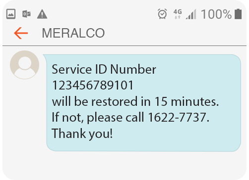 Meralco Prepaid Electricity Service Residential Reconnection
